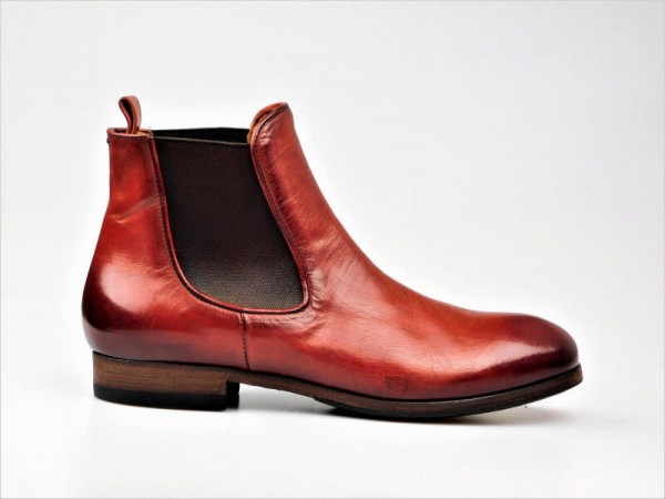 Pantanetti Chelsea-Boot rotbraun - Bild 1