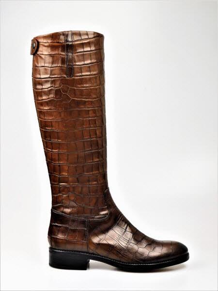 Stiefel kroko cognac - Bild 1