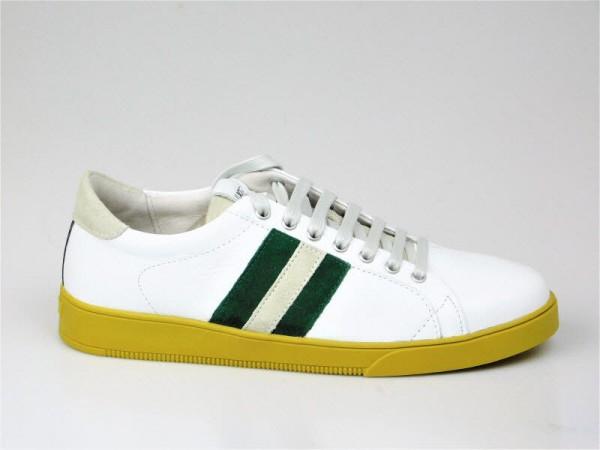 Herrensneaker weiß-grün - Bild 1