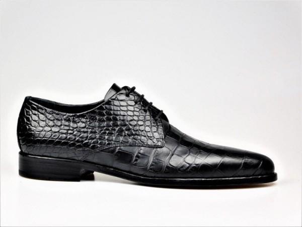 Ducanero Herrenschnürer kroko schwarz - Bild 1