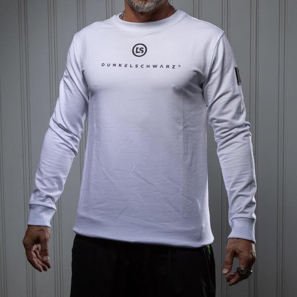 Dunkelschwarz Sweatshirt DS-5 ROLLUP white
