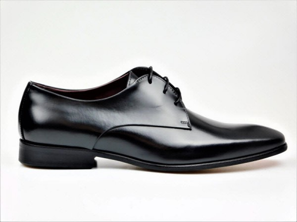 Herrenschnürer elegant schwarz - Bild 1