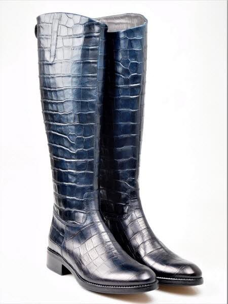 Stiefel kroko blau - Bild 1