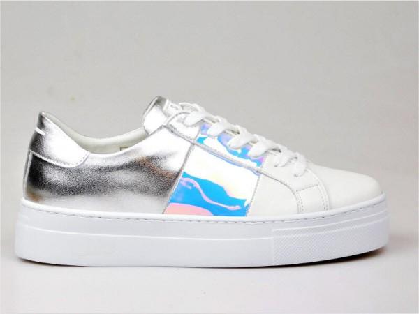 Stau Sneaker weiß-silber - Bild 1