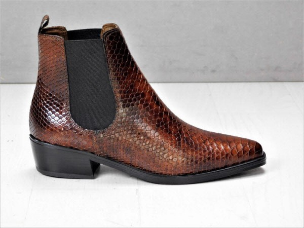 Chelsea-Boot brown reptil - Bild 1