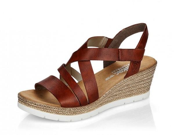 Sandale Keil braun