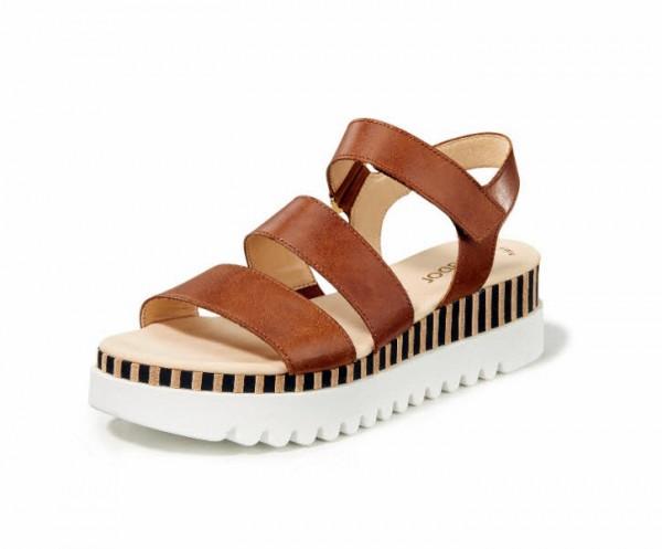 Sandale Streif braun - Bild 1