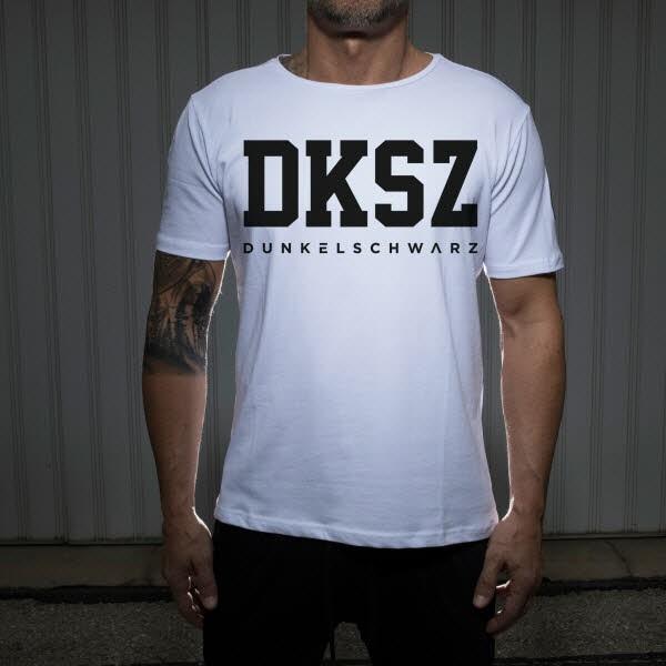Dunkelschwarz T-Shirt DS-1 DKSZ white