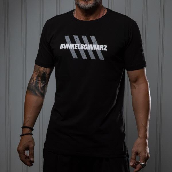 Dunkelschwarz T-Shirt DS-1 Fourstripe black