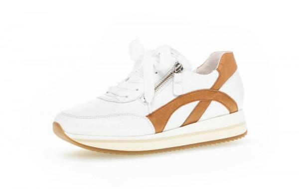 Sneaker weiß-braun - Bild 1