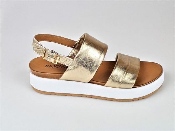 Sandale Pateau gold - Bild 1