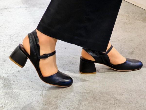 Sandale Absatz schwarz - Bild 1