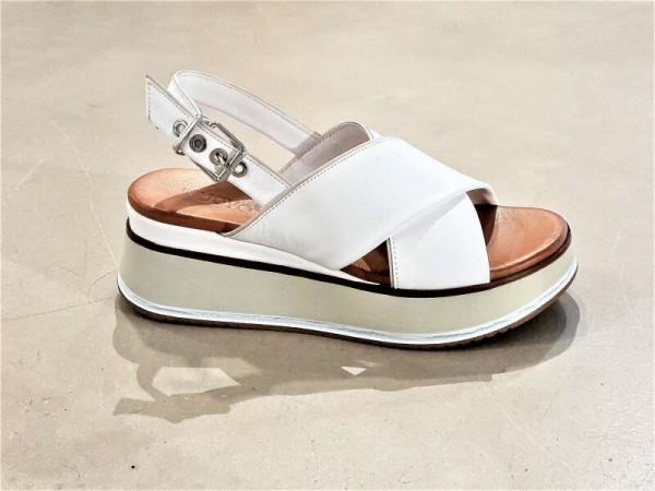 Sandale gekreuzt weiß - Bild 1