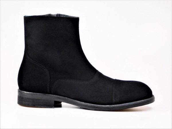 Herrensstieflette schwarz-velour - Bild 1