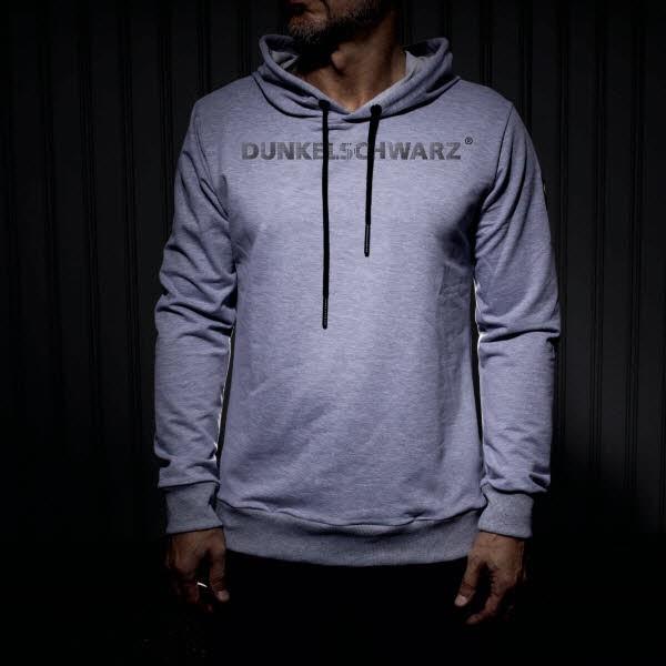 Dunkelschwarz Hoody DS-3 BIGWORDING grey
