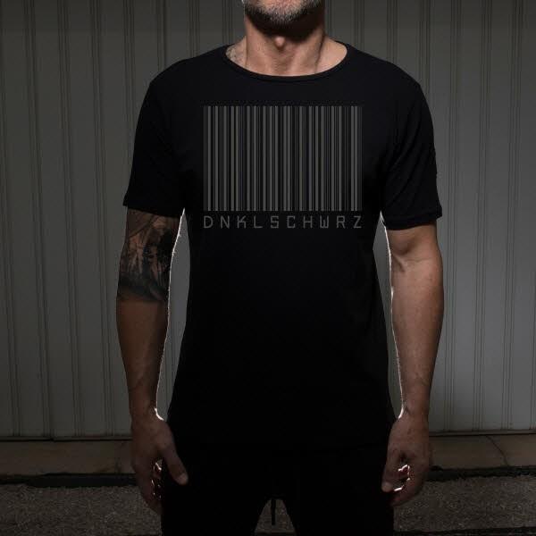 Dunkelschwarz T-Shirt DS-1BAR-DG black