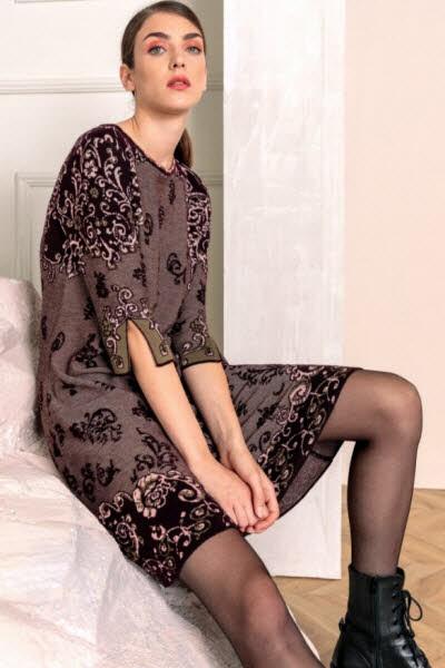 Ivko Dress Brocade braunnrot - Bild 1