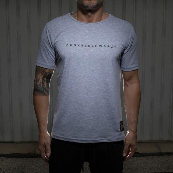 Dunkelschwarz T-Shirt DS-1 LOGO grey
