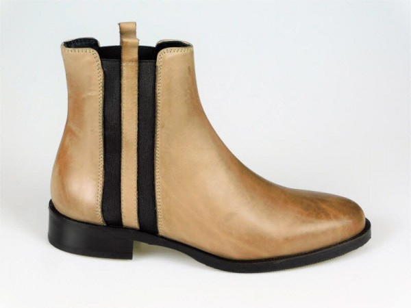 Gianni Crasto Chelsea-Boot Nature taupe - Bild 1