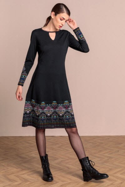 Ivko Intarsia Dress Black
