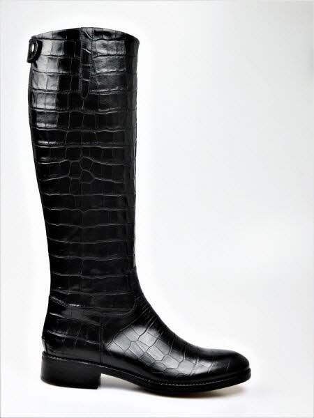 Stiefel kroko schwarz - Bild 1