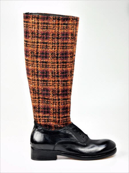 Piscitelli Stiefel arancio karo - Bild 1