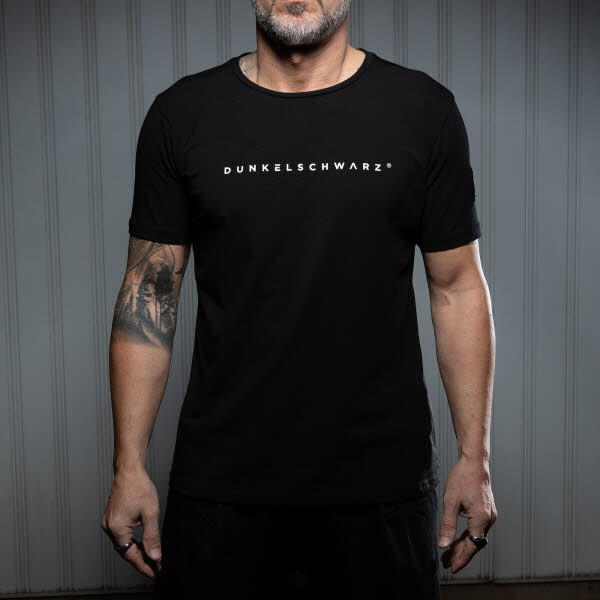 Dunkelschwarz T-Shirt DS-1 LOGO black - Bild 1