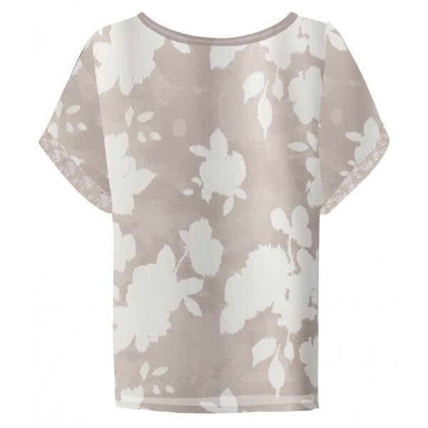 yaya Satin top with floral print - pebbl - Bild 1