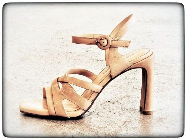 Sandalette Lack beige