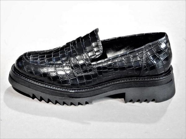 Slipper Kroko schwarz - Bild 1