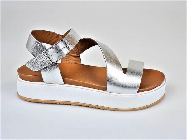Sandale flach silber - Bild 1