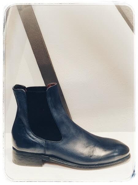 Cordwainer Chelsea-Boot blau