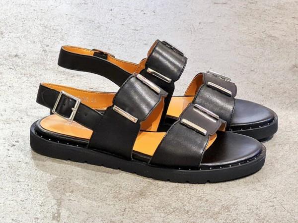 Regarde Le Ciel Sandale flach schwarz - Bild 1